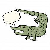 picture of crocodiles  - cartoon crocodile with speech bubble - JPG