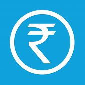 image of indian currency  - Indian rupee symbol in circle - JPG