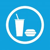 pic of burger  - Image of drink and burger in circle - JPG