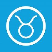 picture of taurus  - Image of Taurus zodiac symbol in circle - JPG