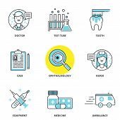 picture of ambulance  - Medical vector icons set - JPG