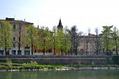 image of juliet  - Verona, an ancient castle on the river - Italy