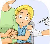 pic of scared  - Illustration of a Scared Little Boy About to Have an Injection - JPG