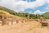 image of messina  - collonade of gymnasium in Ancient Messina - JPG