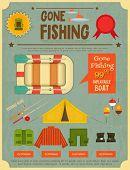 picture of fishing bobber  - Fishing Retro Poster - JPG