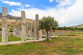 picture of messina  - collonade of gymnasium in Ancient Messina - JPG