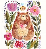 pic of bear  - Vector illustration - JPG