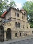 picture of synagogue  - Jewish synagogue in the center of Prague in the Czech Republic - JPG