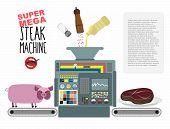 stock photo of manufacturing  - Super mega steak machine - JPG