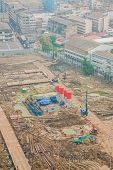 picture of land development  - Top view of building construction site preparing the land - JPG
