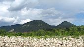 picture of pieniny  - hills in Pieniny and clouds above them - JPG
