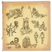 pic of freehand drawing  - People Natives around the World  - JPG