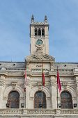 stock photo of city hall  - Facade of the city hall in Valladolid Castile and Leon Spain - JPG
