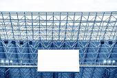 stock photo of grandstand  - Electronic billboard display at stadium - JPG