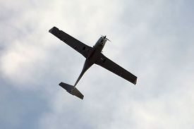 picture of ultralight  - Small aircraft silhouette - JPG