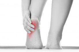 foto of foot  - Pain in the foot - JPG