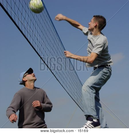 Couple Volleyball Players poster