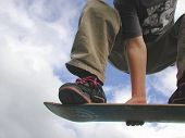 picture of fail-safe  - extreme skateboarder flies through air on skateboard - JPG