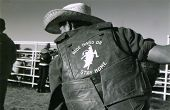 pic of bareback  - Young cowboy at a rodeo school near Fort Worth Texas wears his thoughts on his back - JPG