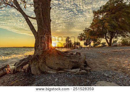 Photo Of A Beach Sunset
