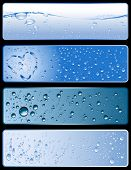 set of four different fresh water-textures