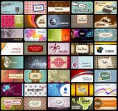 pic of chinese restaurant  - variety of 40 detailed horizontal business cards on different topics - JPG