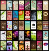 picture of camouflage  - set of 40 detailed vertical business cards in different styles - JPG