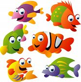 vector animal set 25: fish
