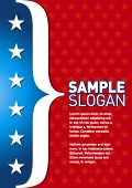 Patriotic template. Can be used as a poster or an invitation card. Just place your own texts and tit
