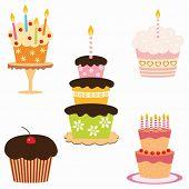 picture of birthday-cake  - set of birthday cakes - JPG