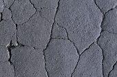 Cracked Painted Asphalt Making Abstract Background. Cracks On The Asphalt, Road Destruction, Beautif poster