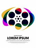 Movie And Film Modern Retro Vintage Poster Background. Design Element Template Can Be Used For Backd poster