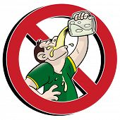 image of chug  - no drinking prohibition sign - JPG