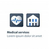 Health Insurance Card, Health Care Policy Concept, Medical Services, Treatment Coverage Program, Car poster