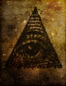 stock photo of illuminati  - Stylized artistic illustration of the Eye of Providence or All Seeing Eye symbol sometimes related to the Illuminati - JPG