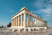 Parthenon On The Acropolis Of Athens, Greece. Famous Parthenon Is The Main Landmark Of Athens. Ruins poster