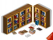 Messed up Library. isometric Series. Compose Your Own World with Isometric Works.