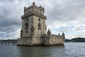 Belem Tower Or The Tower Of Saint Vincent Is A Fortified Tower Located In Lisbon, Portugal poster