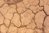 Dry Cracked Scorched Earth. The Drought Of Nature In Fire Dangerous Season. poster