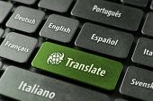stock photo of telecommuting  - Multilingual translation online concept - JPG