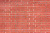 Brick Wall Pattern Of Red Stone Material Background. Abstract Bright Vivid Brick Stones Pattern, New poster