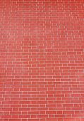 Brick Wall Gradient Pattern Of Red Stone Material Texture Background. Abstract Brick Stones Pattern, poster