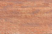 Brick Wall Old Weathered Orange Stone Texture Background. Grunge Abstract Brick Stones Pattern, Colo poster