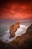 Sunrise at sandstone rock formation of Twelve Apostle, Great Ocean Road, VIC, Australia