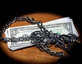 Chain And Dollar Bills