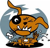 Постер, плакат: Мультфильм собака клипарт