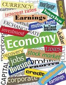 Economy Word Collage
