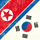 North Korean and South Korean Flag. this flag represents the relationship  between North Korea and S
