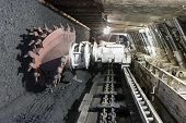 stock photo of raw materials  - Longwall Mining - JPG