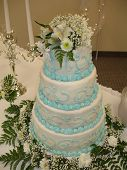 stock photo of cleaving  - photo of wedding cake at a traditional wedding - JPG